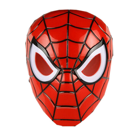 Kids Children Spiderman Superhero LED Face Eye Mask Halloween Masquerade Party