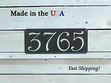 Horizontal Address Plaque, Artsy House Number Sign, Mailbox Numbers, HN1029