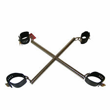 TheSexShopOnline - Hog Tie Cuffs With Metal Bar Bondage Restraint Adjustable