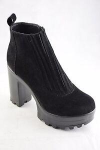 Truffle-Mist1-Black-Suede-Ladies-Ankle-Platform-Vegan-Boots-Fashions