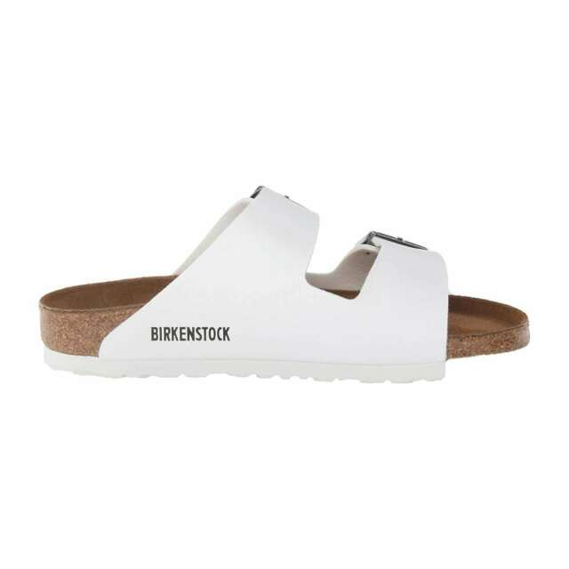 Birkenstock Arizona Womens 552681 White Birko flor Cork Sandals WMNS Size 39