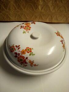 Antique-VTG-Stoneware-Pottery-USA-Serving-Bowl-Glaze