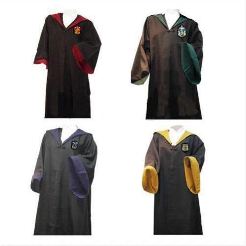 Harry Potter Hogwarts Youth Adult Robe Cloak+Scarf+tie set School Costume HOT!!