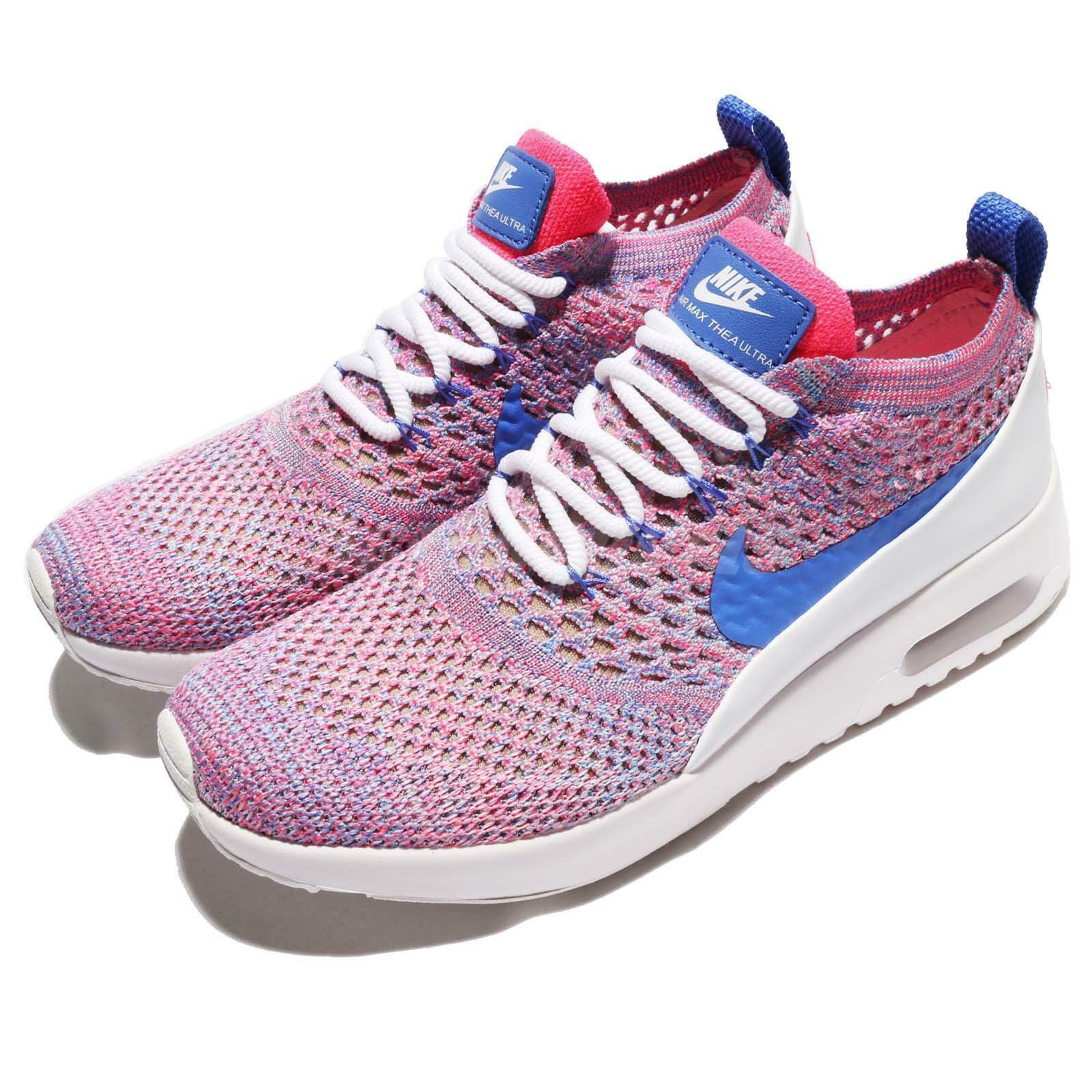 Size 10 - Nike Air Max Thea Ultra Flyknit Medium Blue/Racer Pink/White