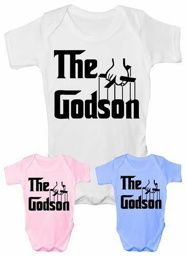 The Godson Christening Funny Babygrow Vest Gift  Baby Clothing
