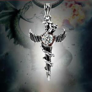 top-cosplay-stahl-angewandte-engel-fluegel-halskette-schlange-kreuz-anhaenger