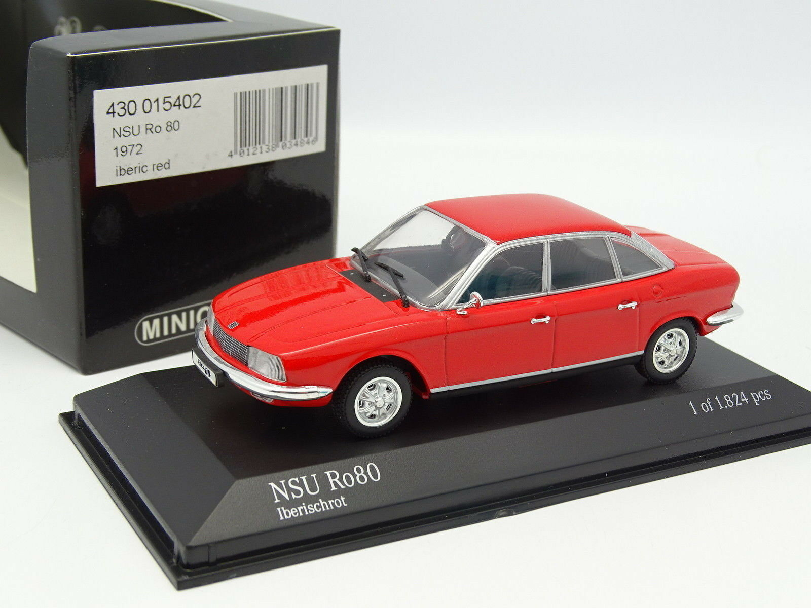 Minichamps 1 43 - NSU RO 80 1972 Rouge