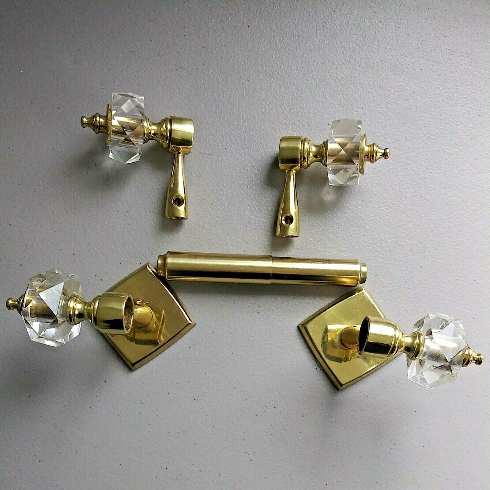 Vintage Toilet Paper Holder Curtain Rod Holder Brass Finish Hollywood Regency