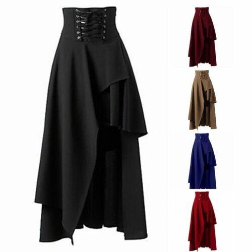 Ladies Lolita Princess Dress Ruffle Long Skirts Gothic Vintage Dolly Victorian