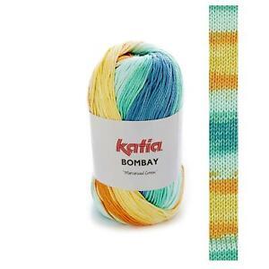 BOMBAY-KATIA-100-Baumwolle-BATIK-FARBVERLAUF-MULTICOLOR-WOLLE-Catania-Art-2032