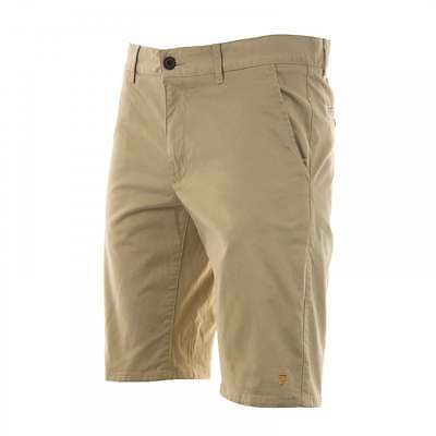 Farah Mens Hawking Chino Shorts (Light Sand)