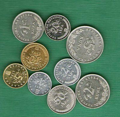 10 coin bimetal CROATIA  Full set coins 1 2 5 10 20 50 lipa + 1 2 5 25 kuna