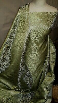 5M wine medallion   floral  Design Chinese Brocade Fabric 45 inch Wide