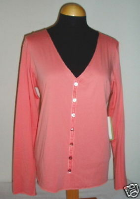 NWT Eileen Fisher Sunset Rosa Jersey Button-up Top Cardigan S