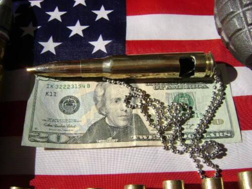 "50 cal bmg Bullet BOTTLE OPENER   Necklace PENDANT Military 28/"" BALL CHAIN"