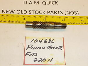 440N, Neuf D.A.M New Old Stock Dam Quick Drive Gear PN#104 567 pour 330N