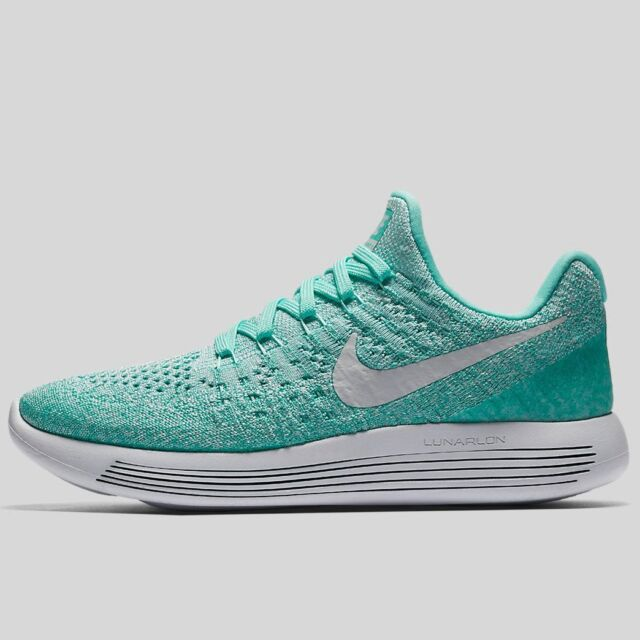 8148a2d2d1f05 Nike Womens Lunarepic Low Flyknit 2 HYPER Turquoise Running Shoes Sz ...