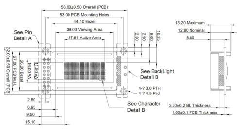 5V Wide Angle 8x2 LCD Module Character Display w//Tutorial,HD44780,Black White