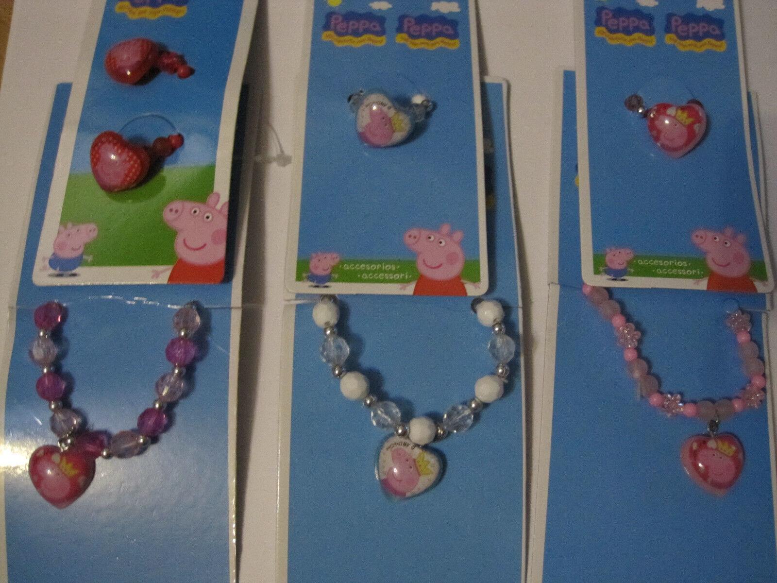 100 tlg Set Peppa Ringe Armband Haarband Pig Schweine Wurfmaterial Karneval