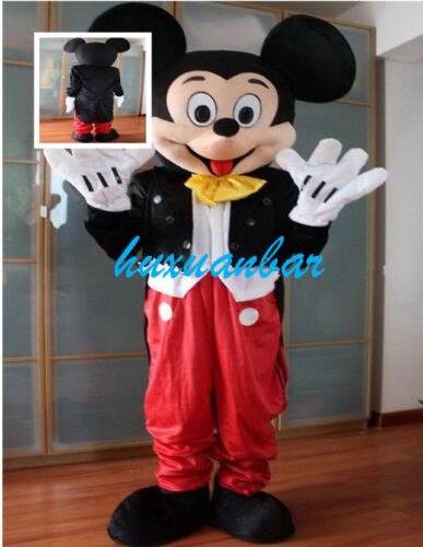 Professional Mickey Mouse Mascot Costume Fancy Dress Adults Size Outfit Birthday