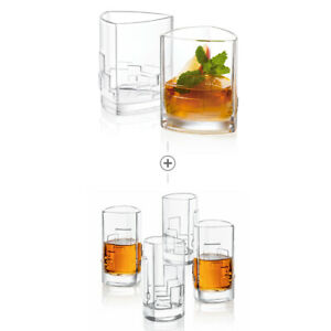 JoyJolt-Revere-13oz-Set-of-2-Double-Old-Fashion-glass-and-4-2oz-Shot-Glasses
