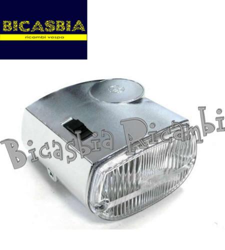 2873-headlight piaggio ciao p px with chrome effect munition