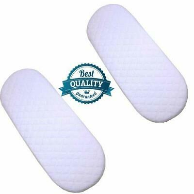 MOSES BASKET FOAM MATTRESS BABY PRAM OVAL BREATHABLE QUILTED 70 x 29 x 3.5 CM