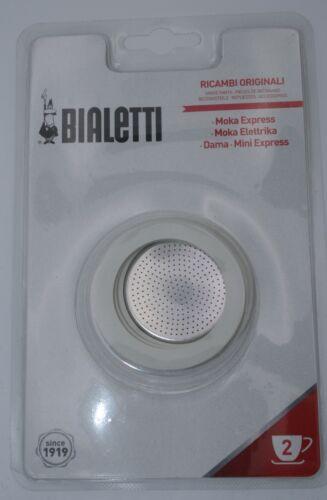 Bialetti Ersatzteilset Dichtung und Filter für Espressokocher Aluminium 2 Tassen
