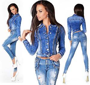 Veste en jeans courte pour femme