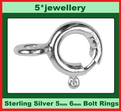 wholesale real 925 sterling silver chain or bracelet bolt ring catch 5.50mm 6mm