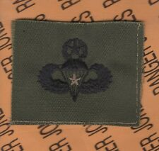 US Army Master Combat Jump Airborne Parachutist wing OD Green cloth patch