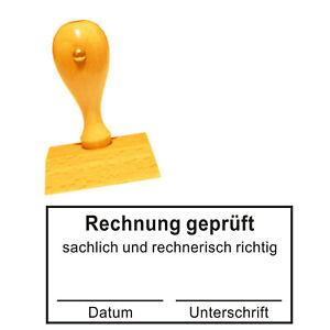Stempel « FACHTECHNISCH und RECHNERISCH GEPRÜFT » Kontierungsstempel Bürostempel