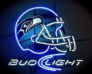 Details About New Seattle Seahawks Bud Light Helmet Neon Sign 20 X16