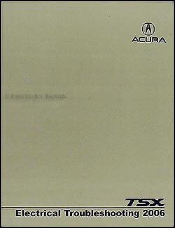 2006 Acura TSX Electrical Troubleshooting Manual Wiring Diagram Book   Acura Tsx Wiring Diagram      Pepa Bonett