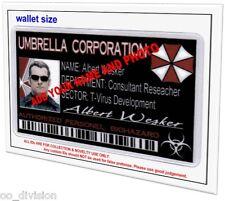 Resident Evil Umbrella Corp  CUSTOM MADE ID CARD