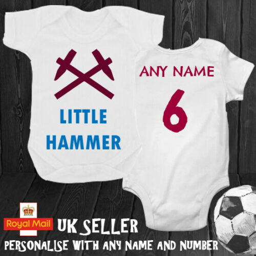 Little Hammer Personalised Babygrow Romper