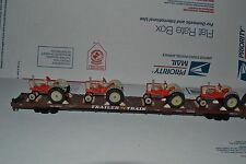 Trainset #141 - Athearn 86' Flat Car with 4 Ford Select O Speed Tractors