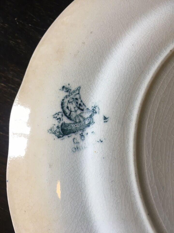 Fajance, Middagstallerken, Vintage