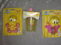 Baby Tweety Water Filled Teether Rattle Spill Proof Cup Pink