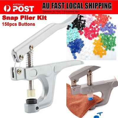 KAM Snap Plier /& 150 Set T5 Plastic Fasteners Clip Button Popper Stud SEWING