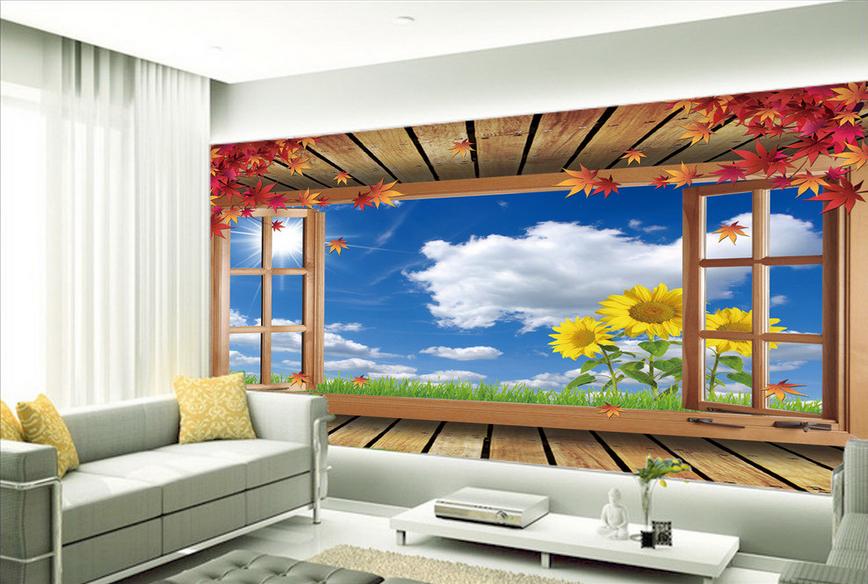 3D Schönes Fenster 864 Tapete Wandgemälde Tapete Tapeten Bild Familie DE Summer  | Einfach zu bedienen  | Reichhaltiges Design  | Schön und charmant