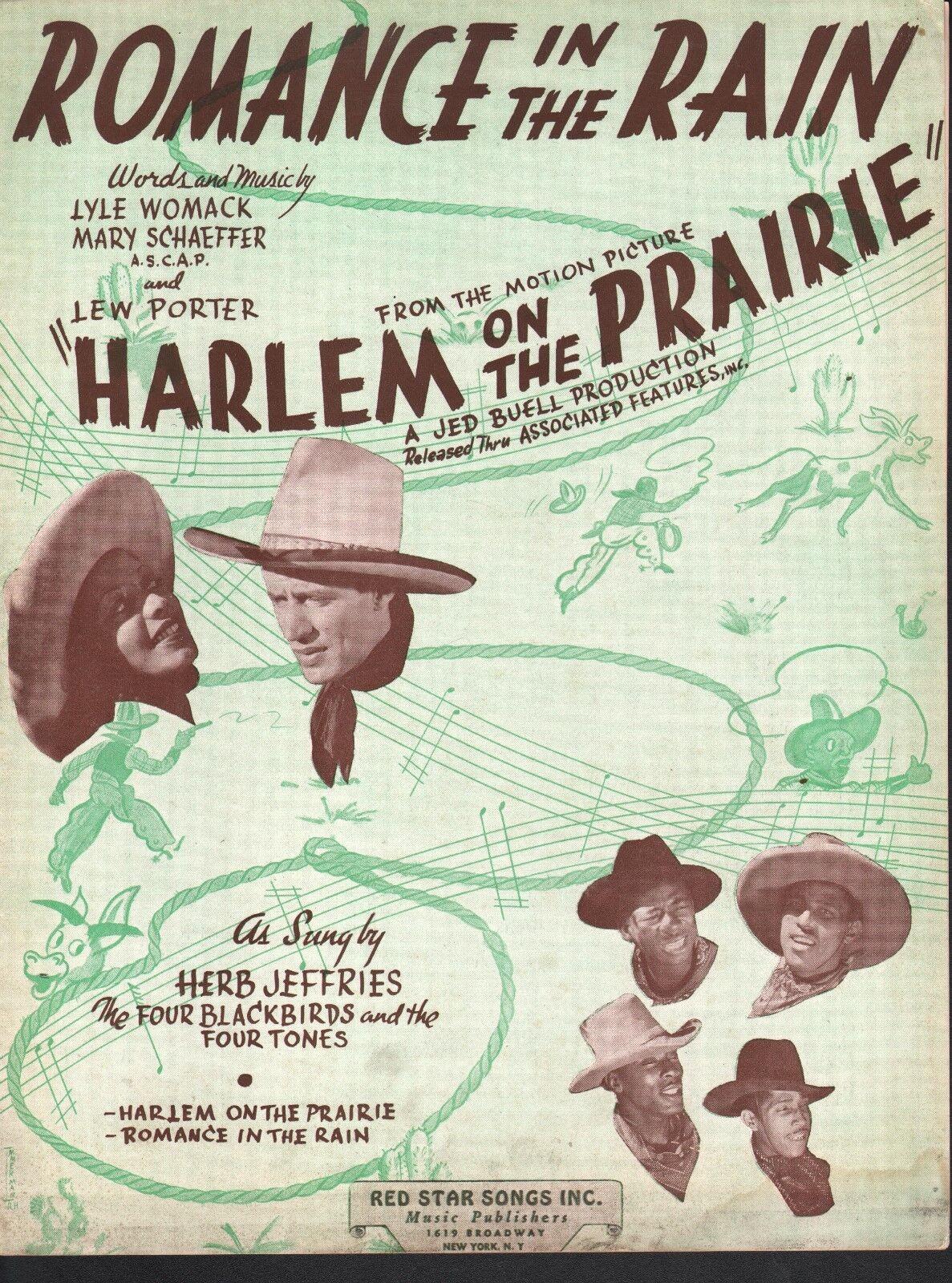 Romance In The Rain 1937 Harlem On The Prairie - Herb Jeffries Sheet Music