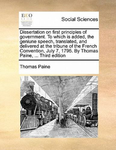 Thomas Paine: Dissertation on first Principles of Government | The National Archives