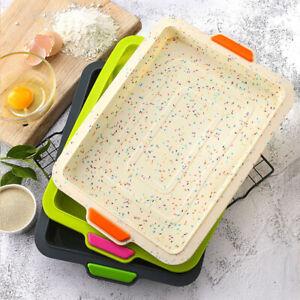 Quadratische-Silikon-Pfanne-Form-Pfanne-Brot-Kuchenform-Backform-Form-DIY
