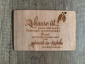 Grußkarte Aus Holz Geschenk Karte Geschenkkarte Einzug Zuhaus Heim Haus Umzug Ebay