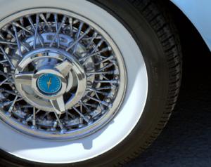 15/'/' Atlas Whitewall Portawall Topper Rubber Tire Ring Set of 4