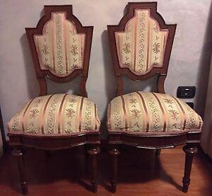 Antiquariato - Coppia di sedie antiche Luigi Filippo   eBay