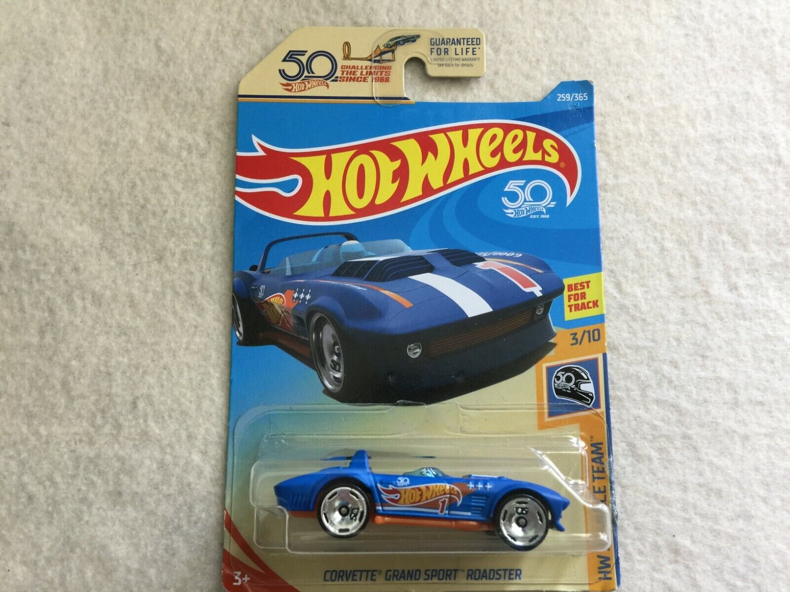 2018 HOT WHEELS 50TH RACE TEAM Corvette Grand Sport Roadster LOT OF 6 Blue Lot