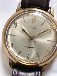 Vintage 1967 Timex Mechanical Hand Wind WristWatch Mechanical Watch Retro Old