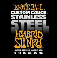 Ernie Ball 2247 Hybrid Slinky Custom Stainless Steel Guitar Strings